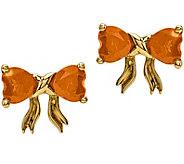14K Yellow Gold Gemstone Birthstone Bow Post Earrings - J375279