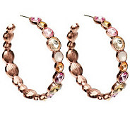 Dazzling Faceted Siren Hoop Earrings - J265880