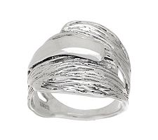 Hagit Sterling Textured Cross-over Ring