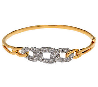 Product image of Diamond Link Hinged Bangle Sterling 1/4 cttw by Affinity