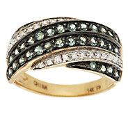 0.75 ct tw Alexandrite & Diamond Bold Band Ring 14K Gold - J285380