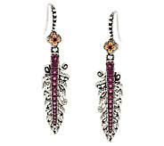 Barbara Bixby Sterling & 18K Gemstone Feather Dangle Earrings - J288880