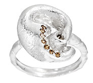 Mary Esses Sterling Knot Ring w/ Diamond Accents - J290580