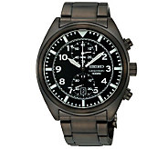 Seiko Mens Chronograph Black Dial Watch - J297380