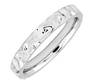 Simply Stacks Sterling 3.25mm Textured Ring - J298080
