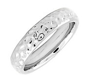Simply Stacks Sterling Silver Dimpled 4.25mm Ring - J298980