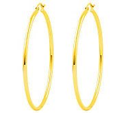 Polished 2 Round Hoop Earrings, 14K - J308680