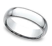 Sterling Silver Milgrain 5MM Unisex Wedding B and Ring - J309980