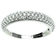 Judith Ripka Sterling Diamonique Pave Ring - J311180