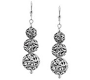 Carolyn Pollack Sterling Graduated Bead Drop Earrings - J313680
