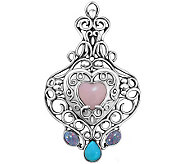 Carolyn Pollack Sterling Heart Locket EnhancerLocket - J314380
