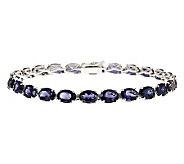 Sterling Silver 15.00 ct tw Iolite Tennis Bracelet - J314780