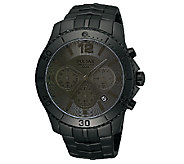 Pulsar Mens Black Dial/Case Chronograph Watch - J316280