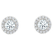 Round Diamond Halo Stud Earrings, 14K, 3/4 cttw by Affinity - J316880