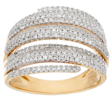 micro pave 39 multi row diamond ring 14k 3 4 cttw by. Black Bedroom Furniture Sets. Home Design Ideas