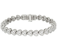 Judith Ripka Sterling Diamonique Heart Bracelet - J322480