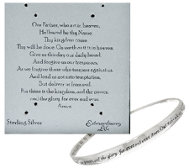 Sterling Twist Prayer Bangle by Extraordinary Life