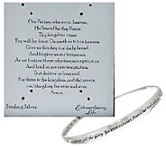 Sterling Twist Prayer Avg. Bangle by Extraordinary Life - J326780