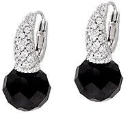 Judith Ripka Sterling Faceted Black Spinel Earrings - J327380