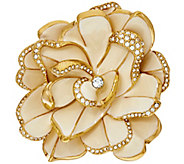 As Is Joan Rivers Limited Edition Ivory Pave Gardenia Pin - J327880
