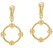 Judith Ripka 14K Clad Diamonique Garland Drop Earrings - J328080