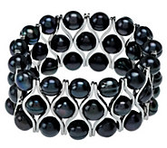 As Is Honora Cultured Pearl 8.5mm Stainless Steel Stretch Bracelet - J328580