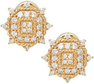 Judith Ripka 14K Gold 1/2 cttw Diamond Earrings - J328680