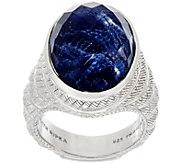 Judith Ripka Sterling Silver Sodalite Doublet Ring - J328780