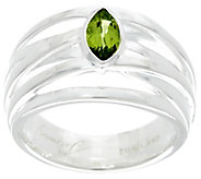 Franco P Sterling 0.50 cttw Marquise Peridot Infinity Ring - J330280