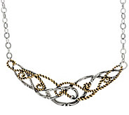 Carolyn Pollack Sterling Silver & Brass Signature Necklace - J330780