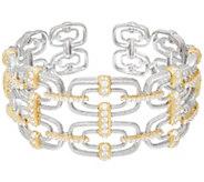 Judith Ripka Sterling & 14K Clad Two-tone Geometric Cuff Bracelet - J331580