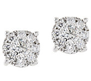 Round Diamond Cluster Stud Earrings, 14, 1/2 cttw, by Affinity - J333680