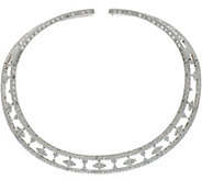 Judith Ripka Sterling Silver 7.50 cttw Diamonique Collar Necklace - J334580
