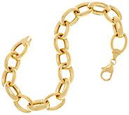 14K Gold 7-1/4 Polished Rolo Link Bracelet, 7.3g - J335080