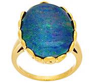 Bold Australian Opal Triplet Sterling Silver Ring - J335380