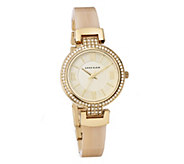 Anne Klein Crystal Bezel Bangle Watch - J348080