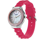 Honora Mother-of-Pearl Silicone Strap Stainless Steel Watch - J348180