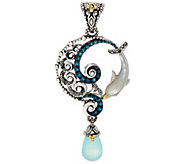 Barbara Bixby Sterling Silver 18K & Gemstone Dolphin Enhancer - J351180