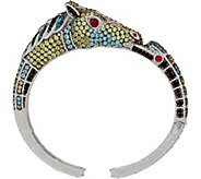 Judith Ripka Sterling Silver Gemstone Heather Horse Cuff, 9.00 cttw - J352280