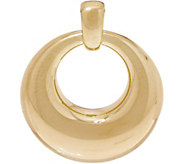 Oro Nuovo Polished Circle Pendant, 14K - J353480