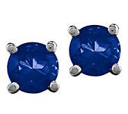 14K White Gold Gemstone Post Earrings - J376980