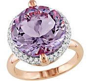 14K 9.50 ct Rose de France and 1/4 cttw DiamondCocktail Ring - J377180
