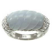 Judith Ripka Sterling and Carved Stone Ring - J377380