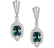 Judith Ripka Sterling Blue Topaz & Diamonique Earrings - J378880
