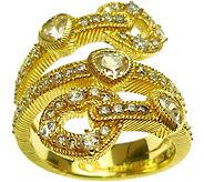 Judith Ripka Sterling & 14K Clad Diamonique Wrap Ring - J379480
