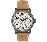 Timberland Mens Stainless Brown Leather Watch - J380780