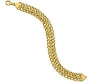 Italian Gold 7-1/2 Double Link Charm Bracelet14K, 7.2g - J381580