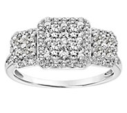 Affinity 14K Gold 1.00 cttw Diamond Round Cluster Halo Ring - J381780