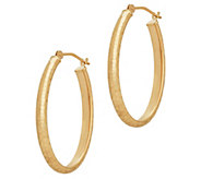 EternaGold Bright-Cut Oval Hoop Earrings, 14K Gold - J383280