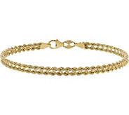 EternaGold 7-1/4 Heart Rope Bracelet, 14K Gold, 2.0g - J383380